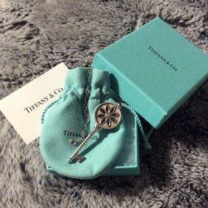 """Tiffany & Co. Daisy Key Pendant on 24"""" Oval Chain"""